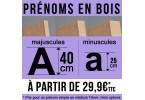 Prénoms bois (40 cm)