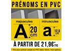 Prénoms PVC (20 cm)