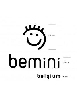 LOGO Bemini en PVC blanc