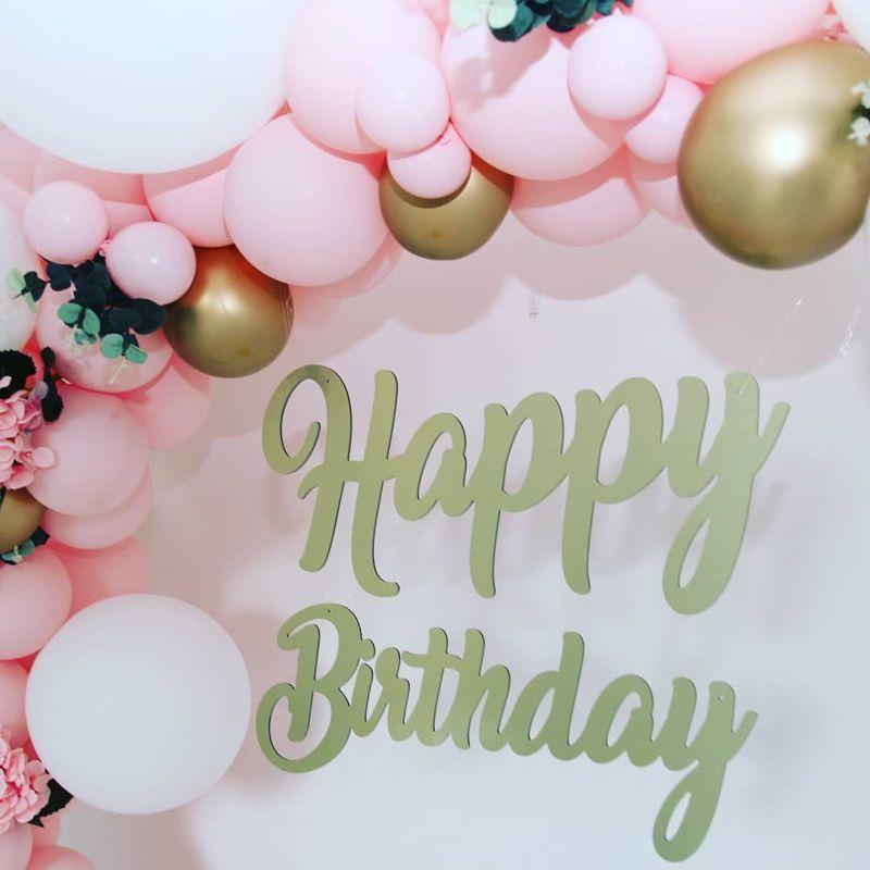 Lettres attachées Happy Birthday en Alu