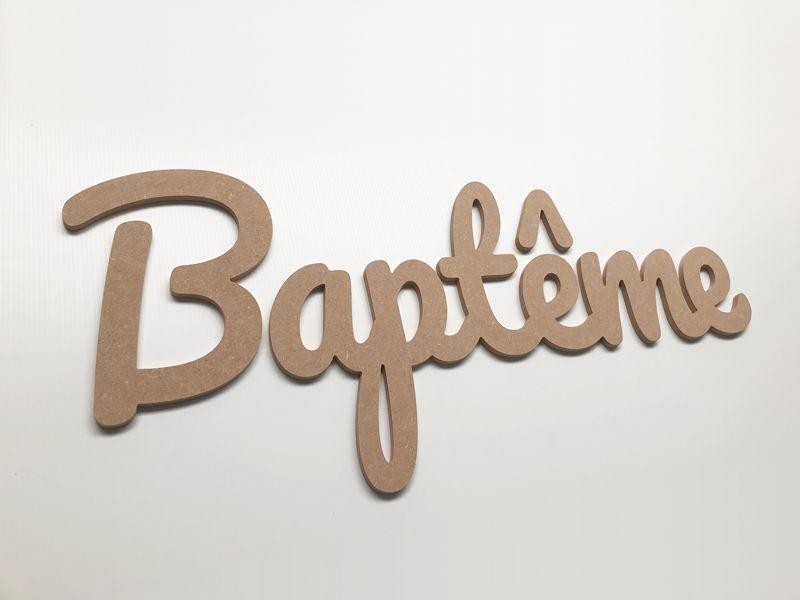 Prénom bois pour la découpe du mot Baptême