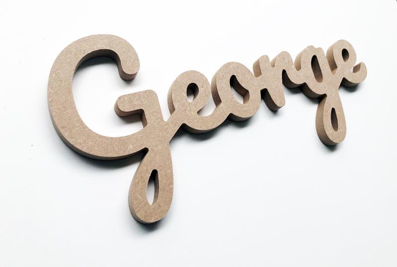 Prénom attaché en bois George