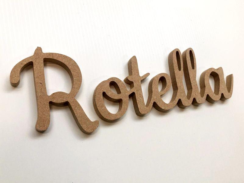 Découpe de prénom en bois à personnaliser !
