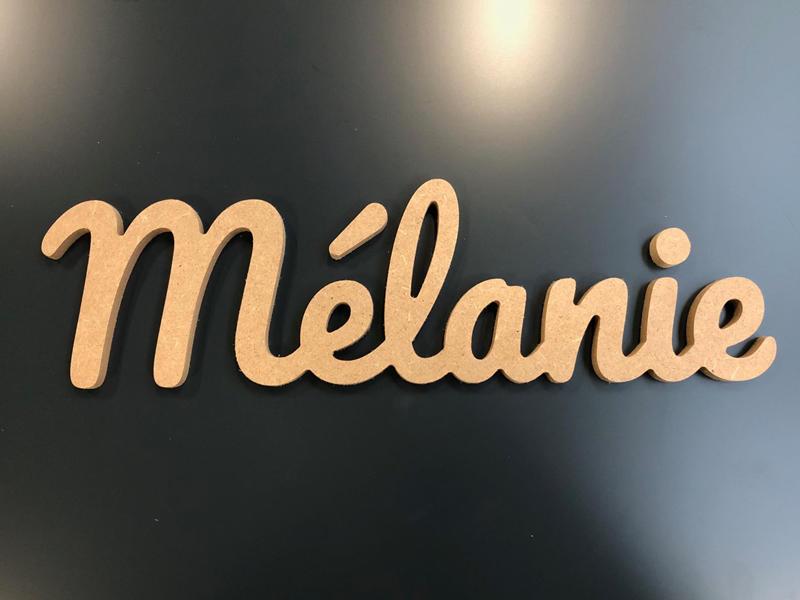 Lettres en bois pour le prénom Mélanie