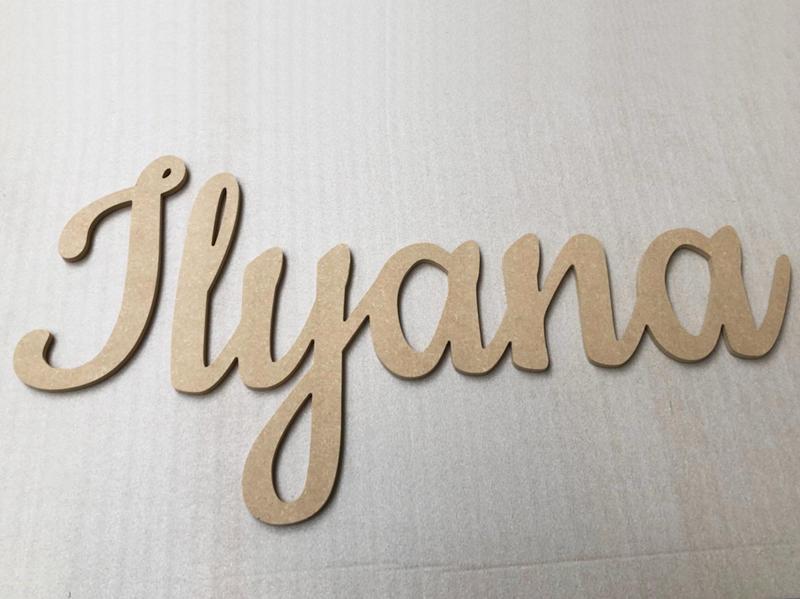 Lettre prénom en bois à poser