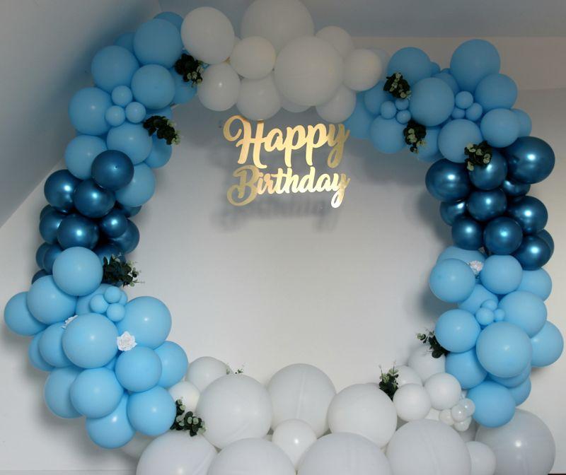 Lettres attachées Happy Birthday en Alu brossé