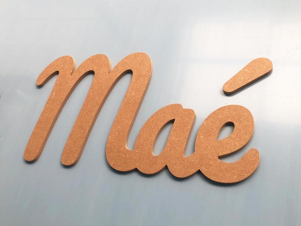 Prénom en bois à peindre Prénom Maé en MDF