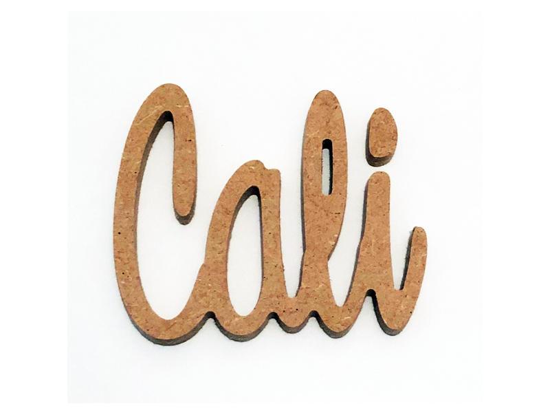 Prénom en bois médium pour Cali