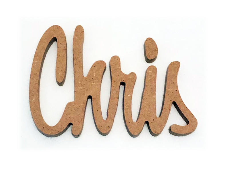 lettre en bois pour prénom Chris