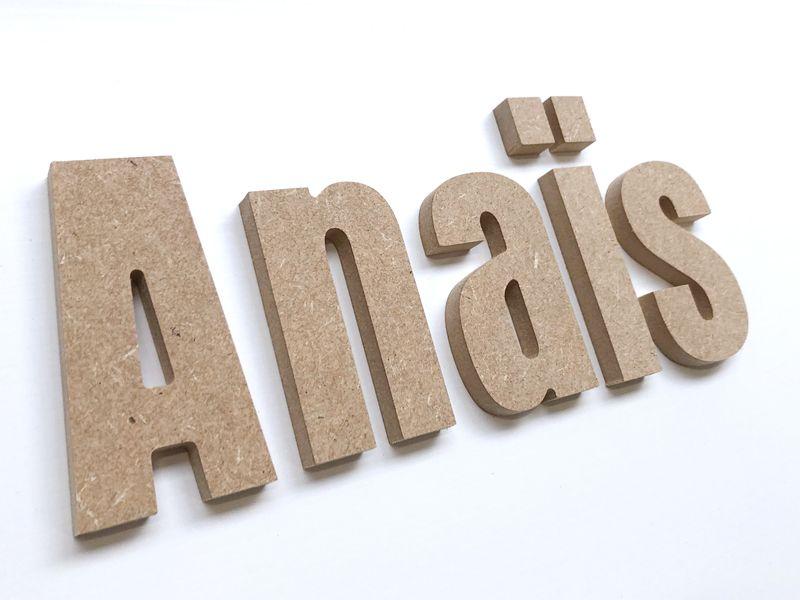Prénom bois décoratif pour le prénom en bois Anaïs