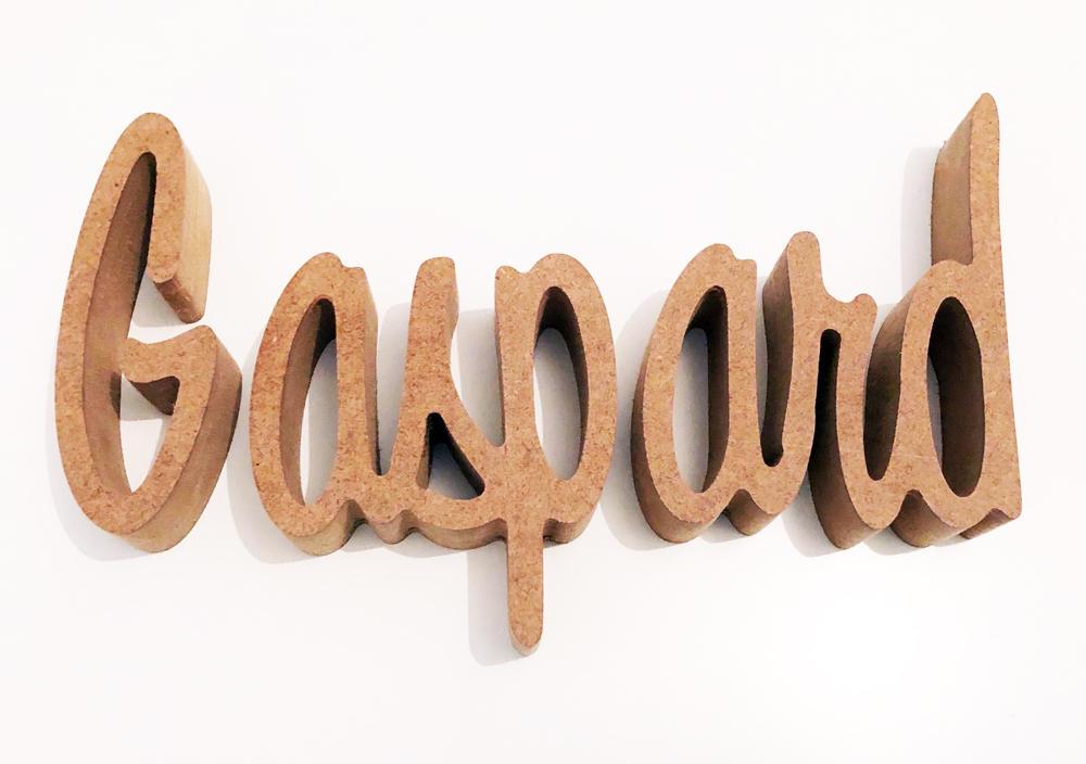 Prénom bois pour le prénom Gaspard