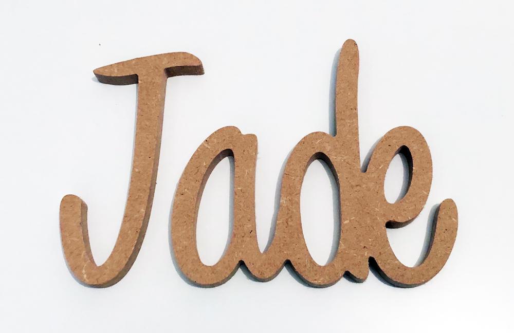 Texte personnalisé en bois découpé