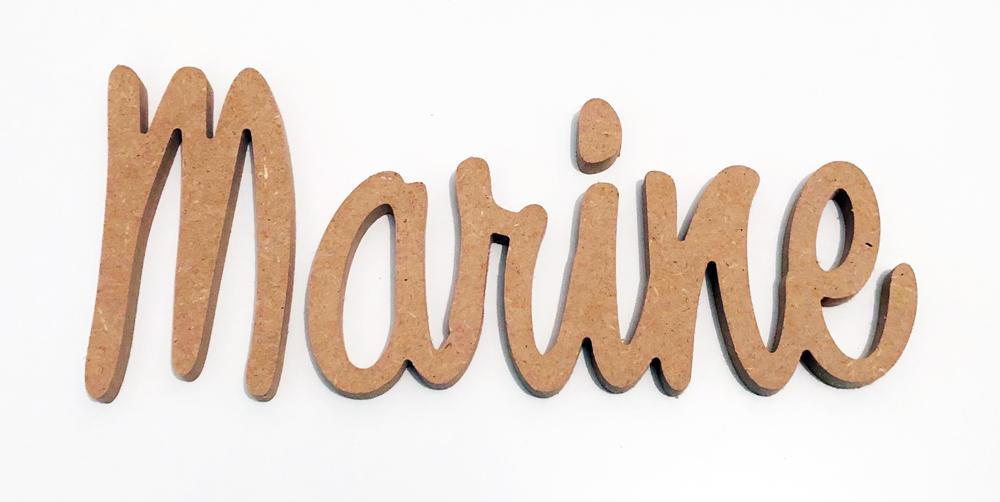 Prénom bois décoratif pour le prénom Marine