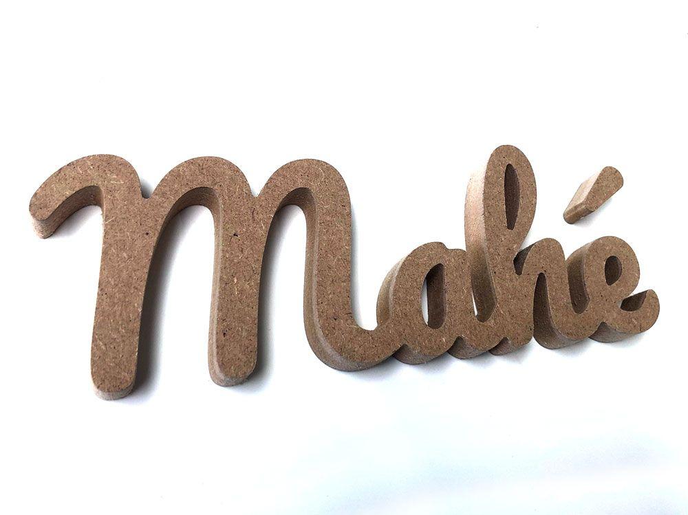 Prénom bois personnalisé pour le prénom Mahé