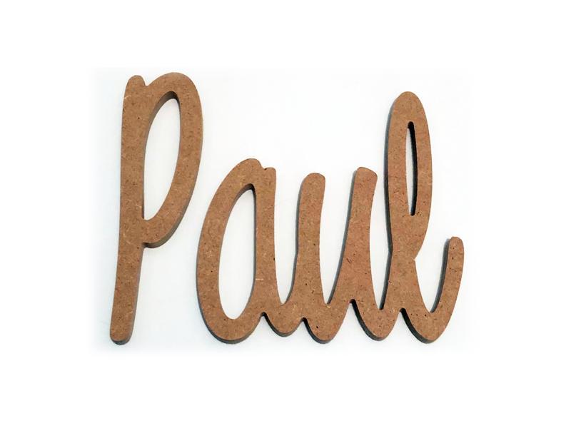 Prénom découpé bois pour Paul MDF médium