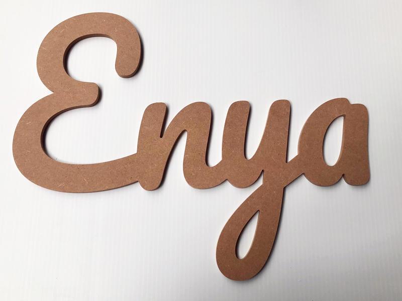 Prénom bois décoratif Enya
