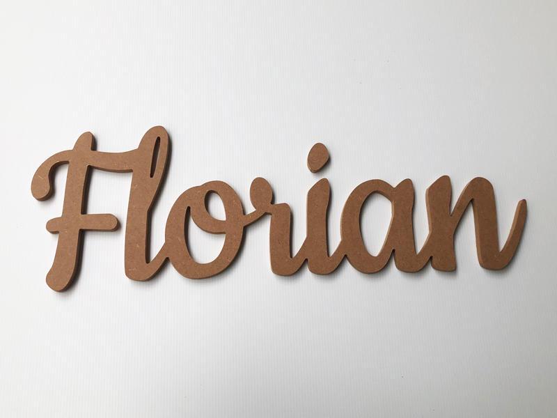 Prénom en bois pour Florian