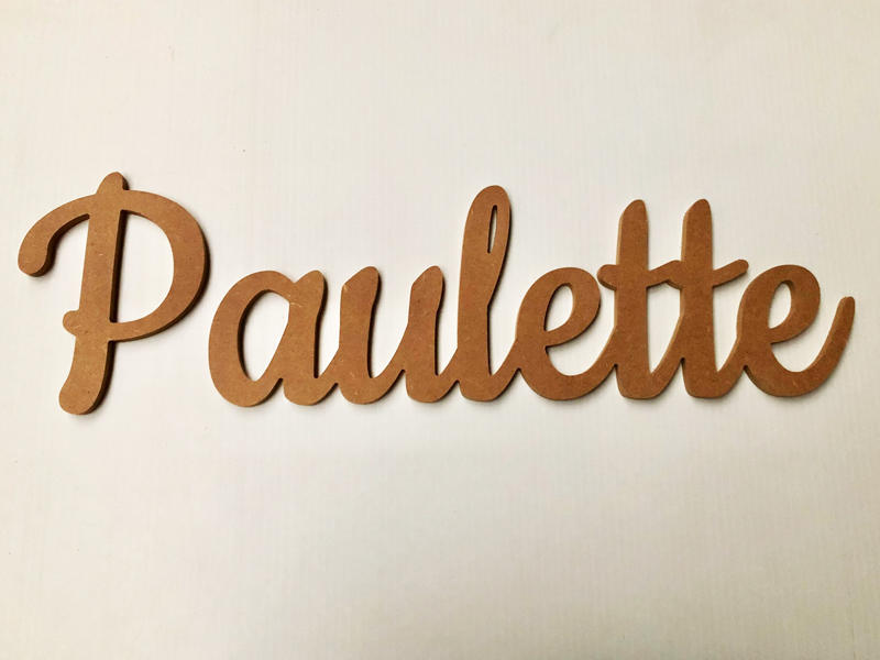 Prénomen bois personnalisé pour Paulette