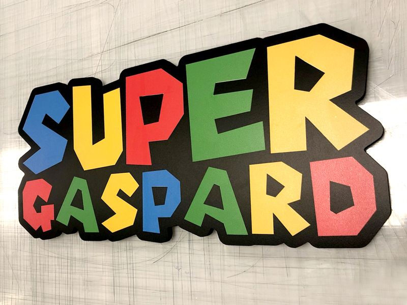 Prénom sur-mesure pour Gaspard - Anniversaire prénom découpé
