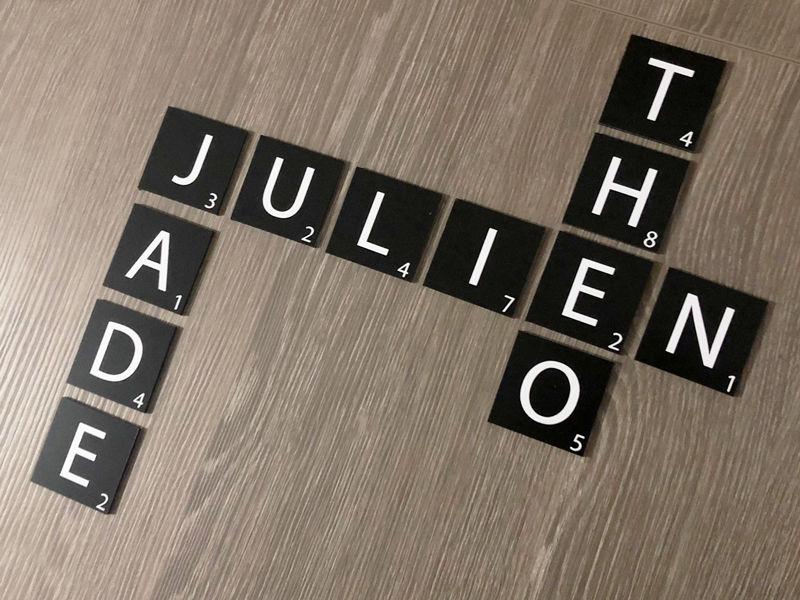 Prénoms Scrabble déco pour la maison