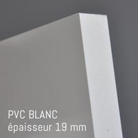 Matière PVC Blanc de 19 mm