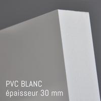 Matière PVC Blanc de 30 mm