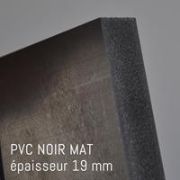 Matière PVC Noir MAT de 19 mm
